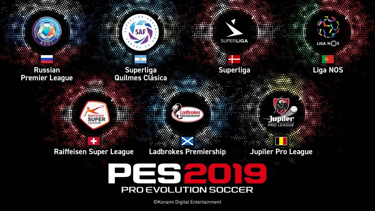 De nouvelles licences pour PES 2019