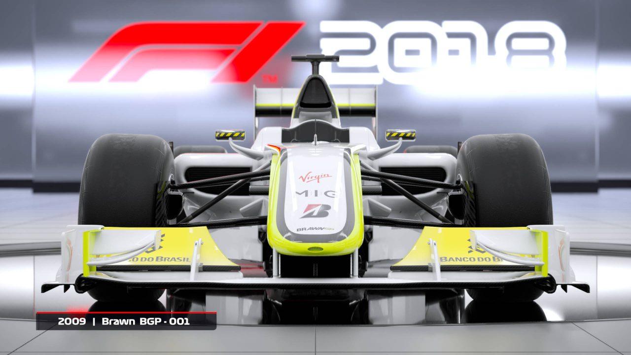 Deux voitures historiques pour les précommandes de F1 2018