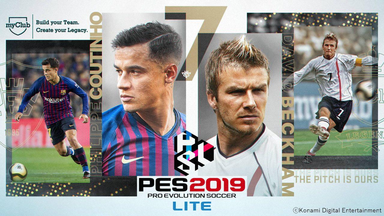 Konami lance une version free to play de PES avec PES 2019 Lite
