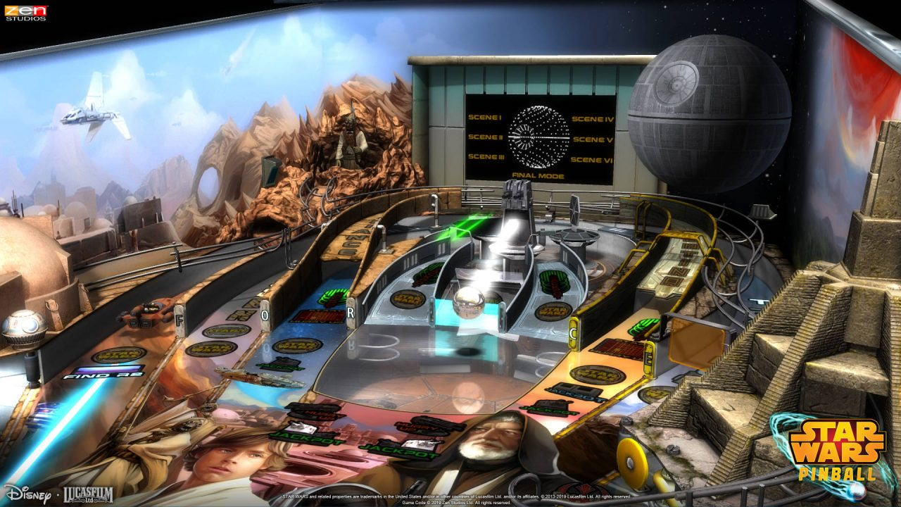 Pas moins de 19 tables pour Star Wars Pinball sur Nintendo Switch