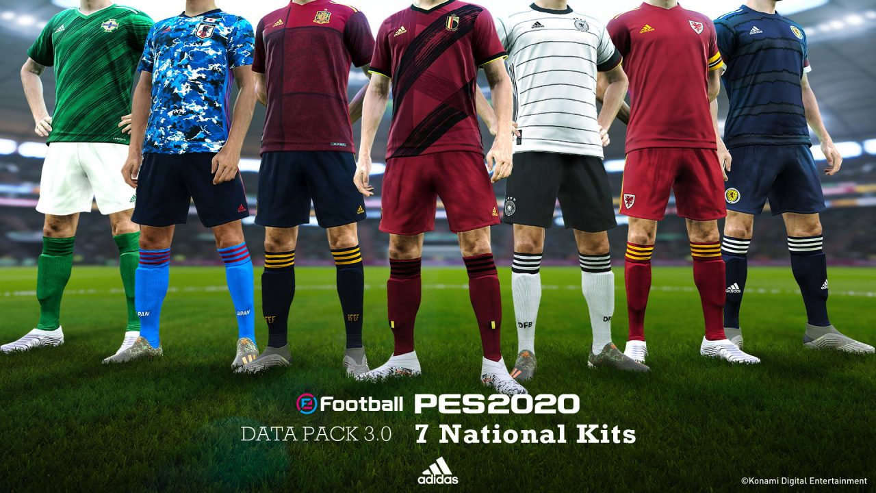 Le Data Pack 3.0 d'eFootball PES 2020 disponible