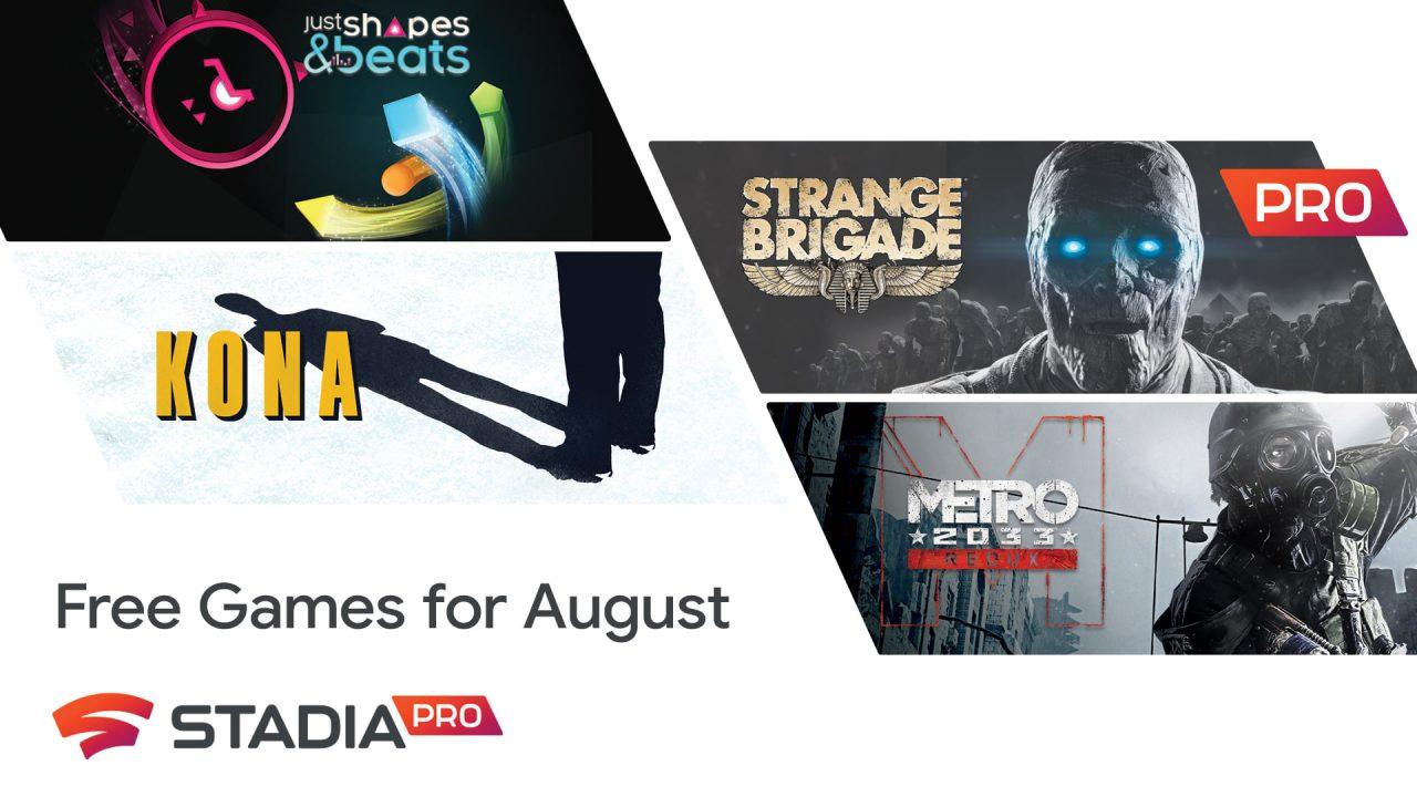 Stadia Pro – Les jeux gratuits d'août 2020
