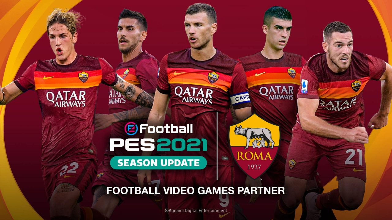 Konami signe avec l'AS Roma pour eFootball PES 2021 Season Update