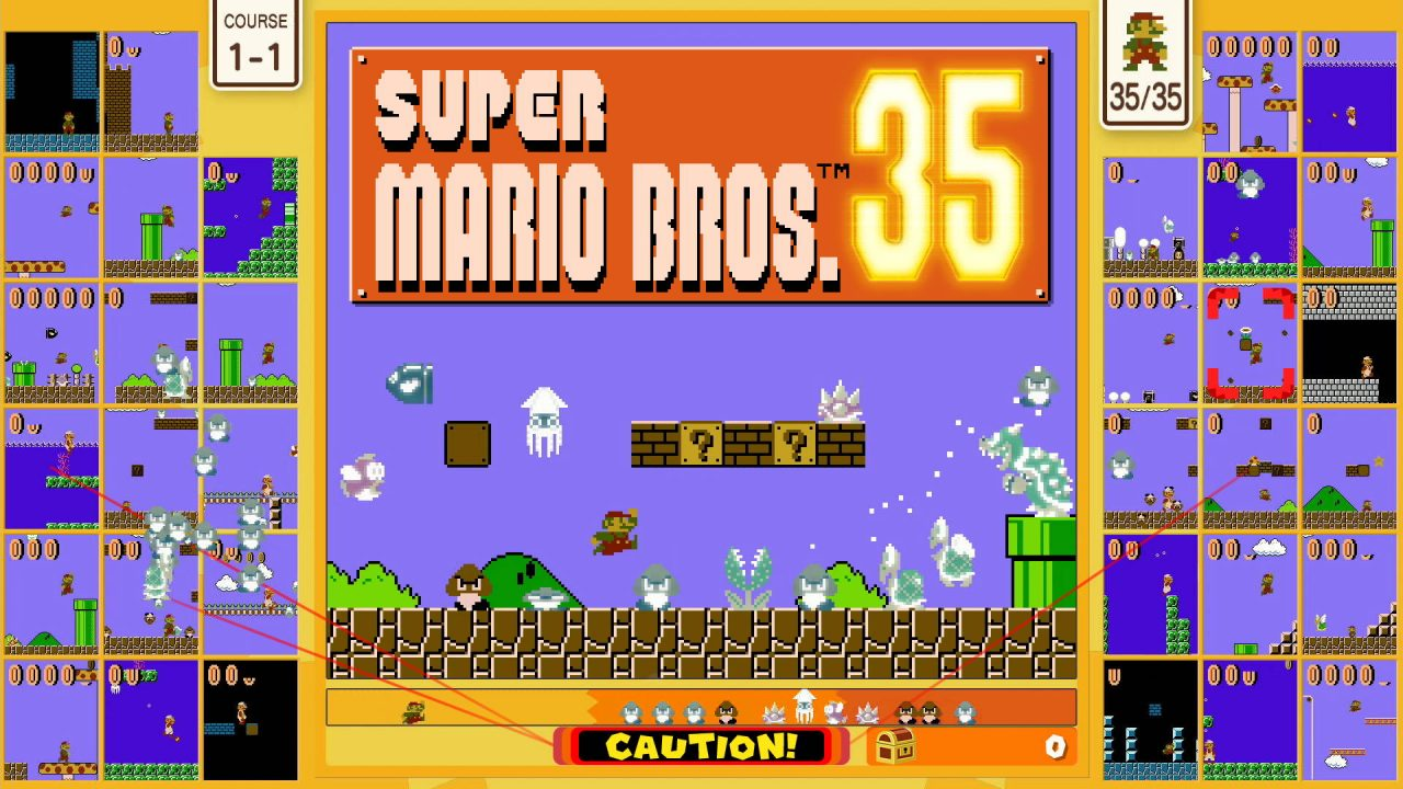 Mario passe en mode battle royale avec Super Bros. 35