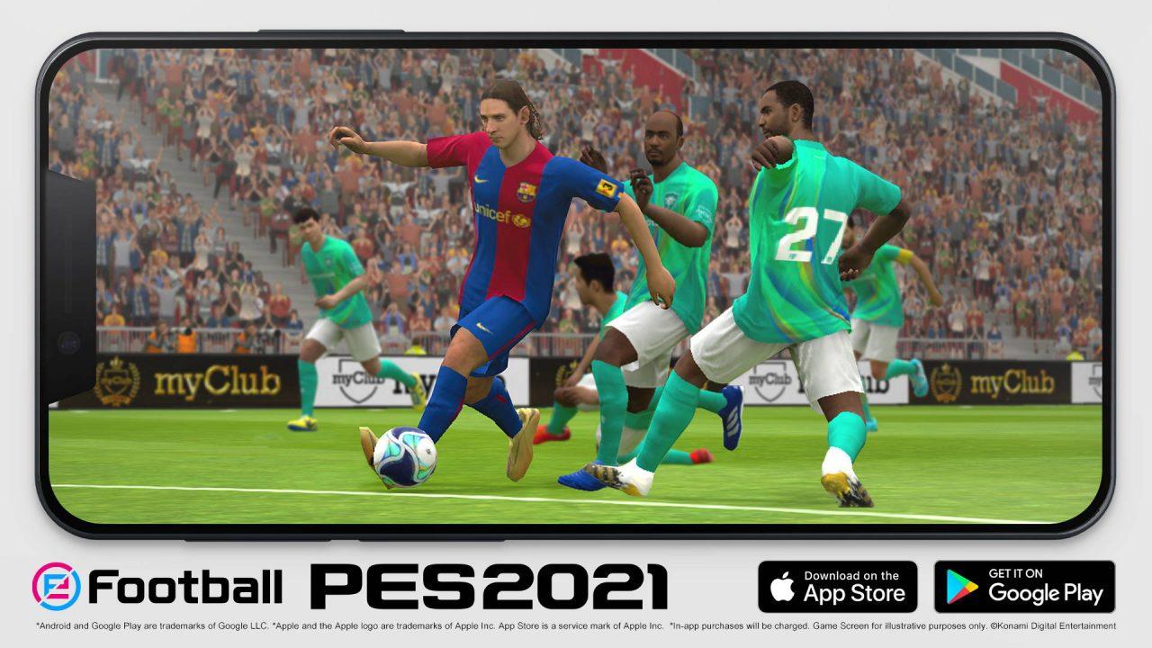 Konami lance eFootball PES 2021 sur les appareils mobiles