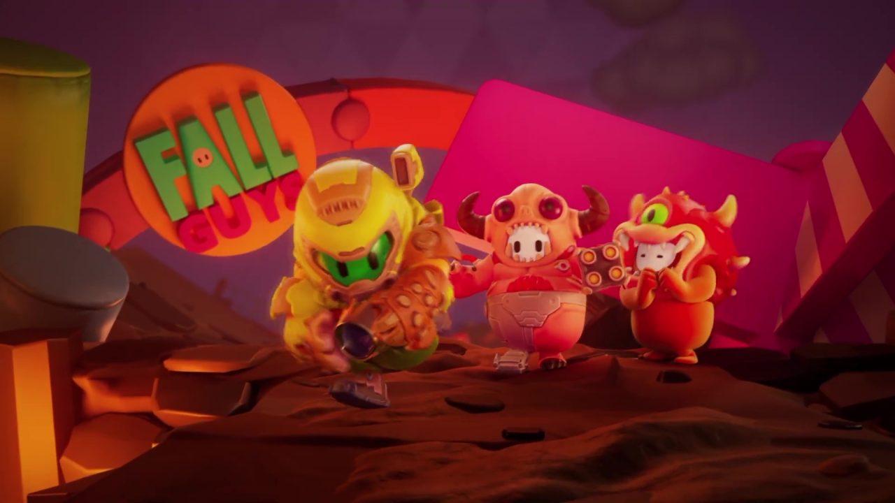 Le cross marketing de Fall Guys continue avec l'arrivée de Doom