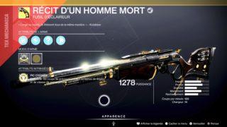 Destiny 2 – Comment obtenir le fusil d'éclaireur exotique Récit d'un Homme Mort ?