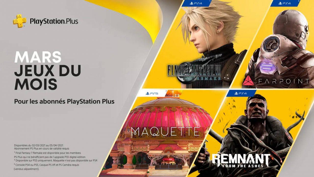 PlayStation Plus – Les jeux gratuits de mars 2021