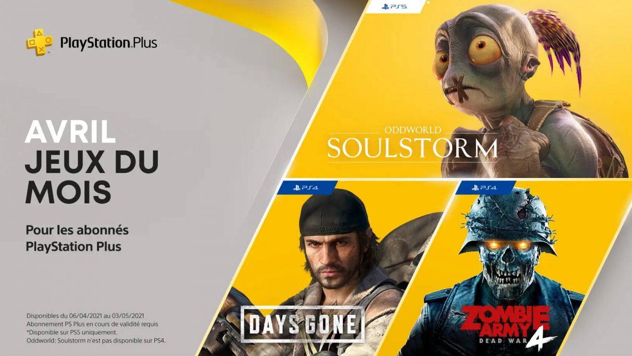 PlayStation Plus – Les jeux gratuits d'avril 2021