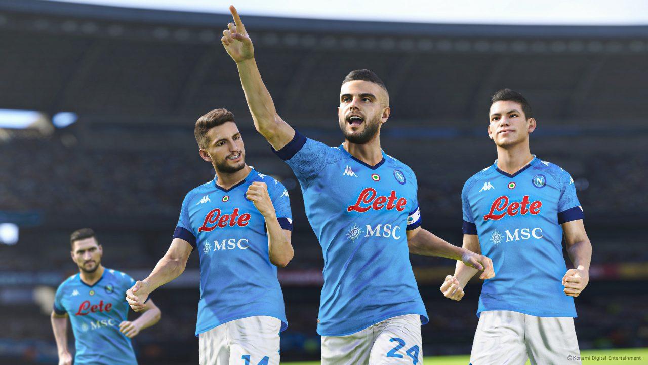 Le SSC Napoli signe avec Konami pour la saga eFootball PES