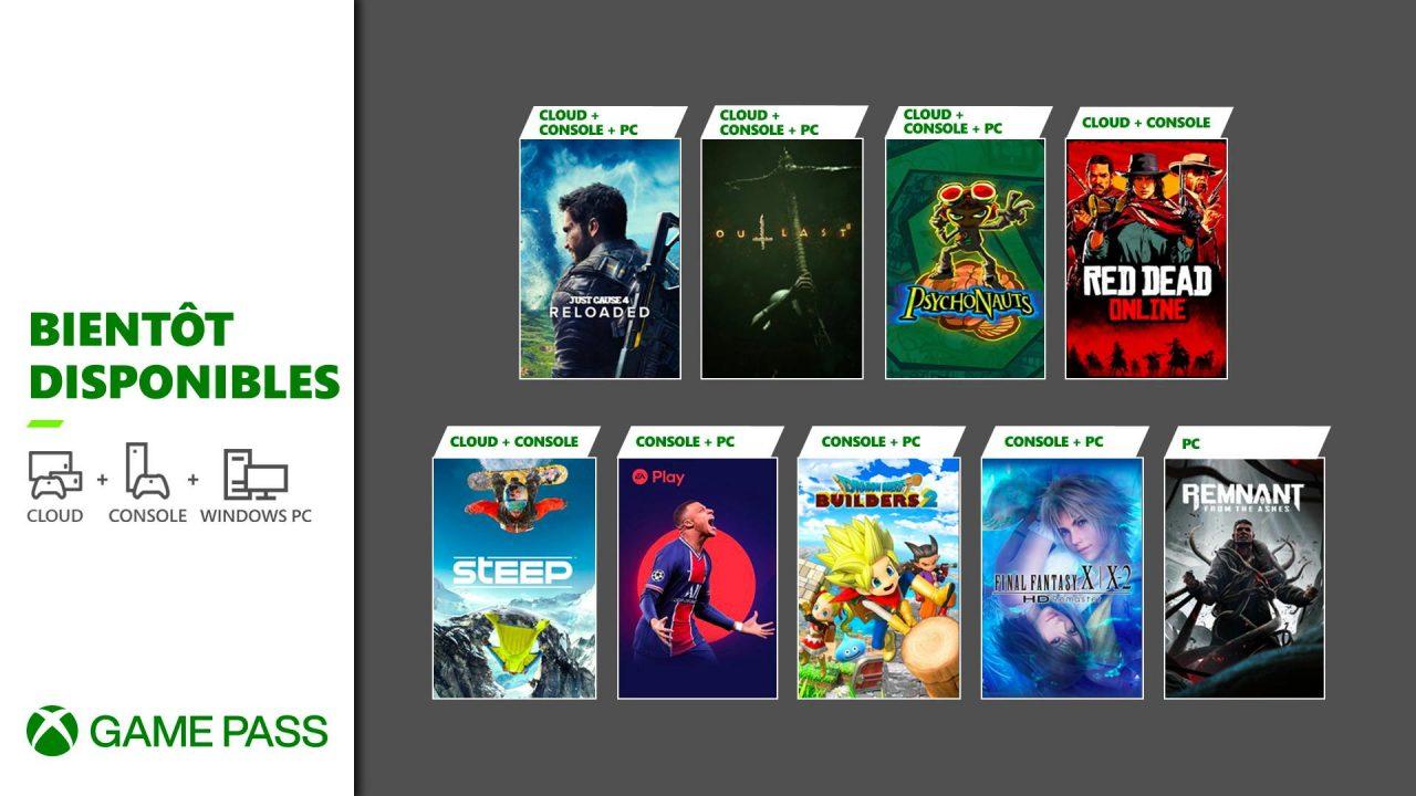 Xbox Game Pass – Les nouveaux arrivants de mai 2021