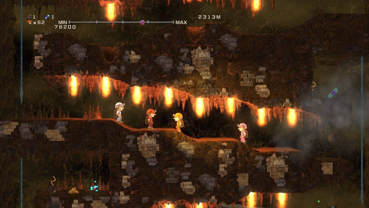 Un remake de Spelunker arrive prochainement sur PS4 et Switch