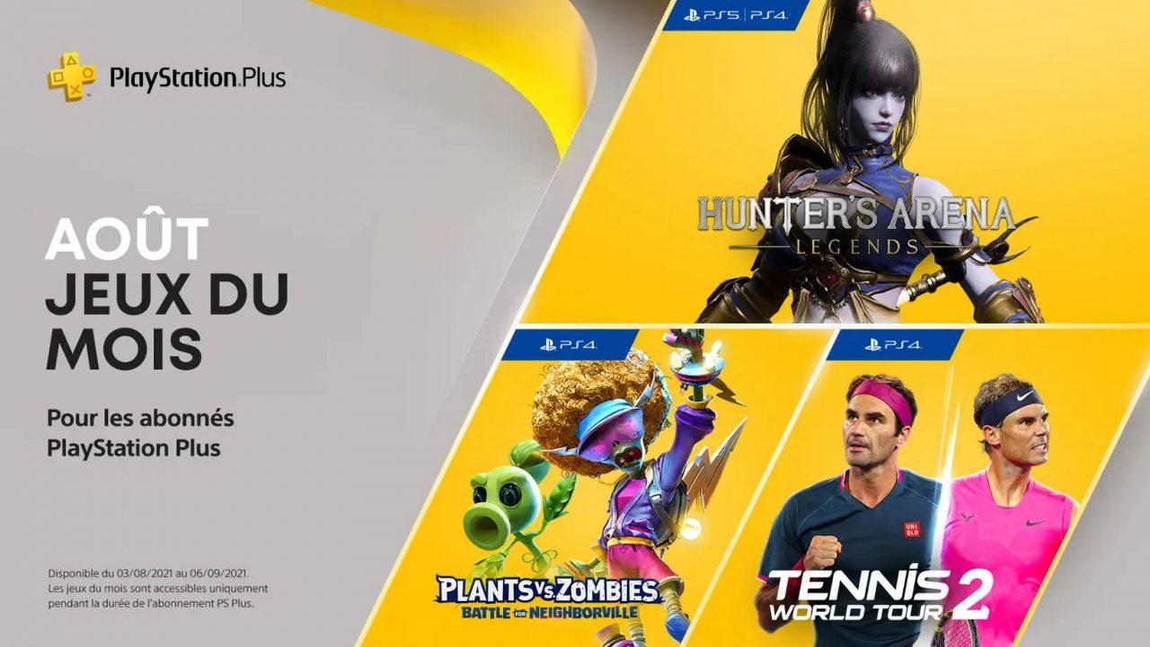 PlayStation Plus – Les jeux gratuits d'août 2021