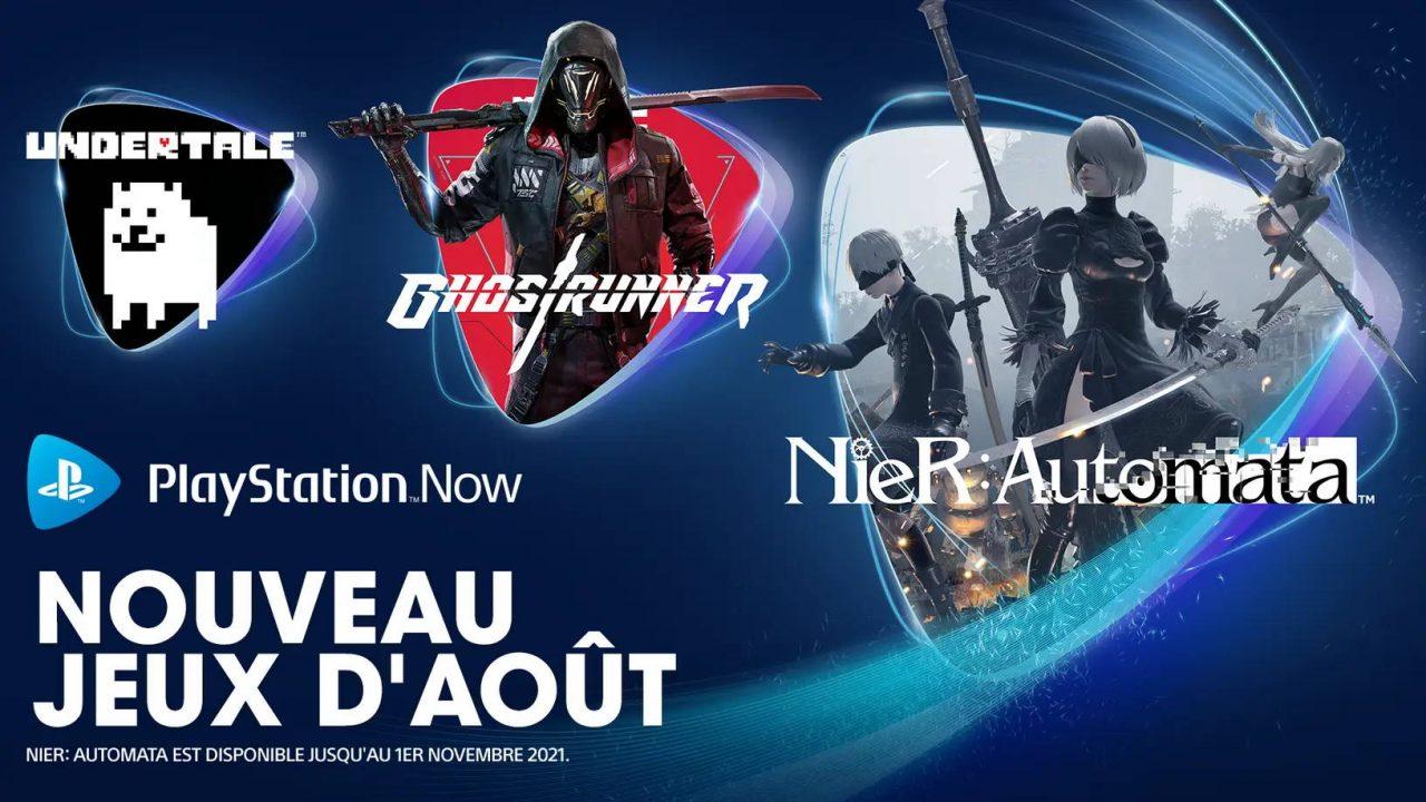 PlayStation Now – Les nouveaux arrivants d'août 2021