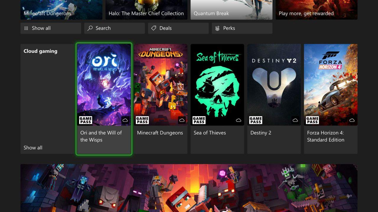 Le Xbox Cloud Gaming arrive sur XSX/S et Xbox One/X