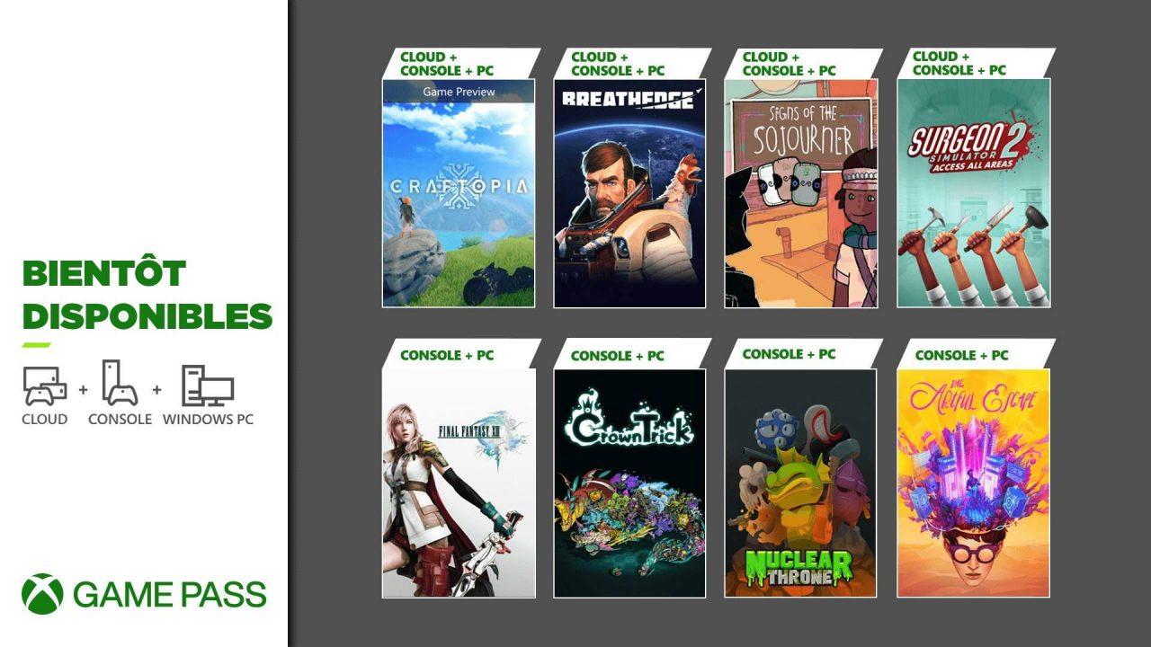 Xbox Game Pass – Les nouveaux arrivants de septembre 2021