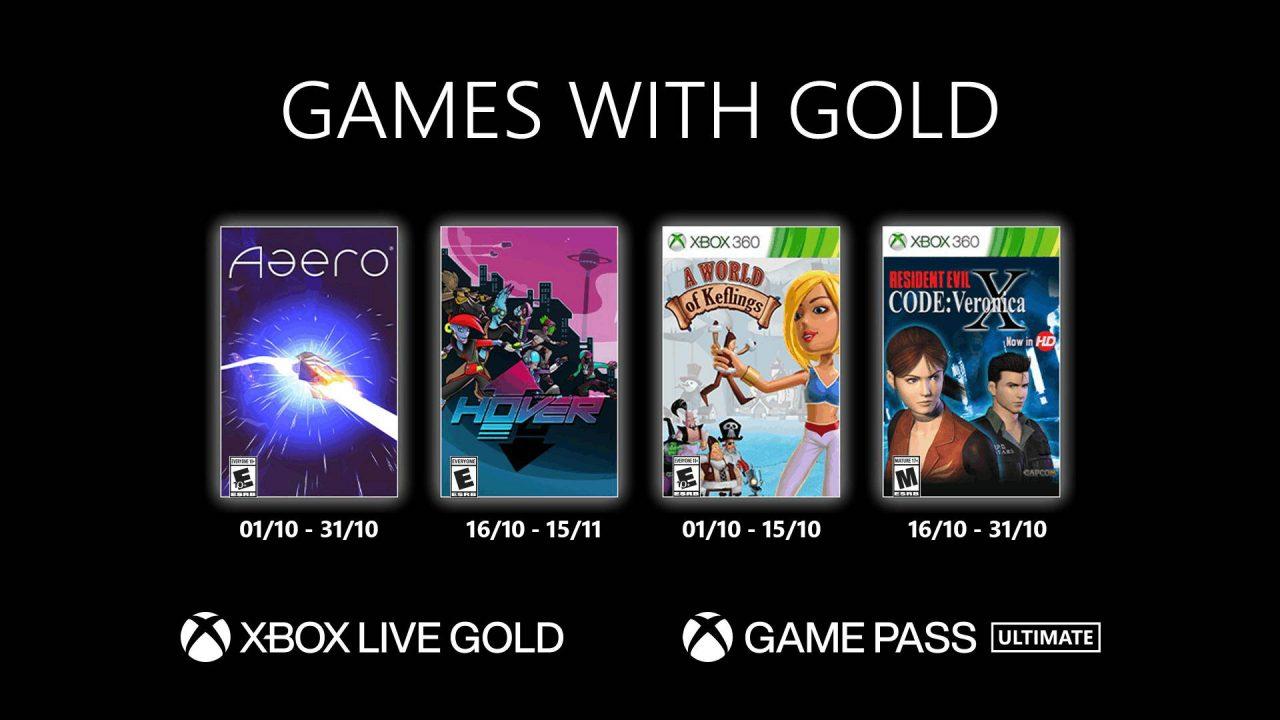 Xbox Games With Gold – Les jeux gratuits d'octobre 2021